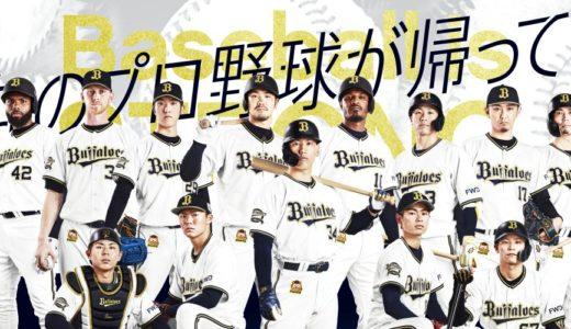 【プロ野球2020オリックス開幕戦】スタメン予想!生中継・見逃し配信動画を無料視聴する方法!